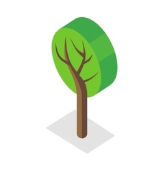 Tree in Isometric Projection vector