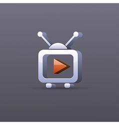Tv icon Eps10 vector