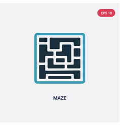 two color maze icon from people skills concept vector image