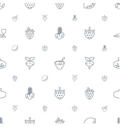 Vegetarian icons pattern seamless white background vector