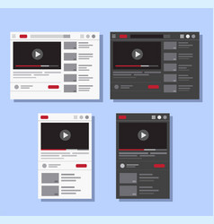 video streaming template vector image