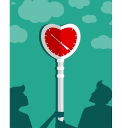 Waiting for Love Couple Background vector image