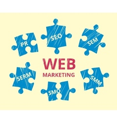 Web marketing vector