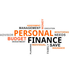 Word cloud - personal finance vector