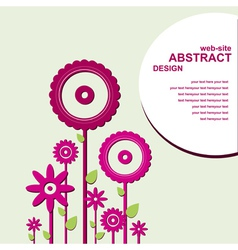 Abstract web design with flowers vector image