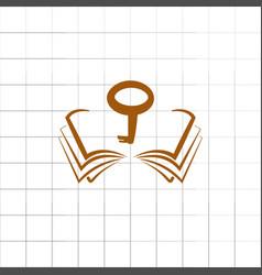 book computer key vector image