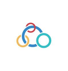 circle olimpiade business logo vector image vector image