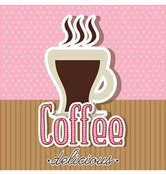 coffee design vector image vector image