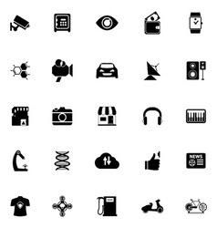 Hitechnology icons on white background vector image