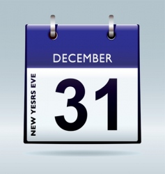 new years eve calendar blue vector image
