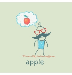 one thinks of the apple vector image vector image