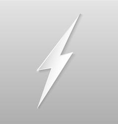 Origami lightning flat icon vector image