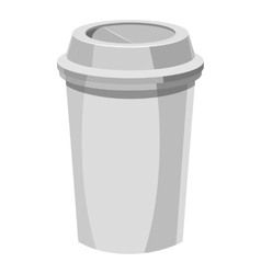Paper cup for coffee icon gray monochrome style vector image vector image