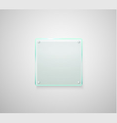 advertising glass board place your text vector image vector image