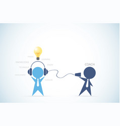 businessman coaching another businessman vector image vector image