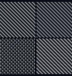 carbon fiber seamless patterns vector image vector image