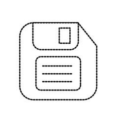 diskette save backup technology data symbol vector image
