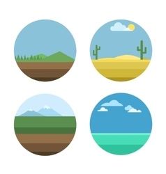 Nature background set vector image vector image
