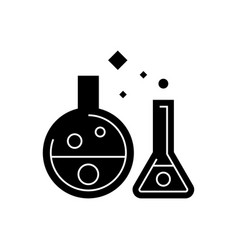 chemistry lab - experiments icon vector image
