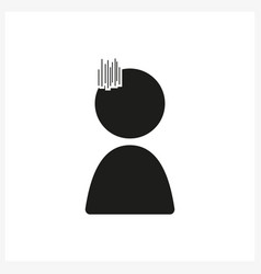 emotion anime icon sad in simple black design vector image vector image