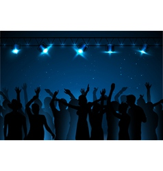 Neon disco background Dancing people vector image
