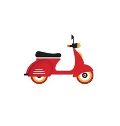Red retro vintage delivery motor bike icon vector image