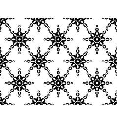 seamless geometric ornament black pattern vector image