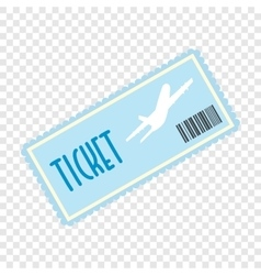 Airplane ticket flat icon vector image vector image