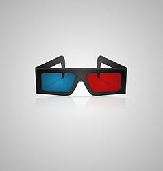 black 3d cinema glasses vector image