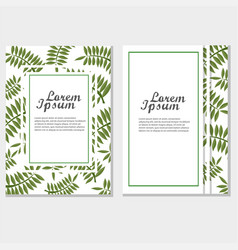 eco brochure design template corporate vector image