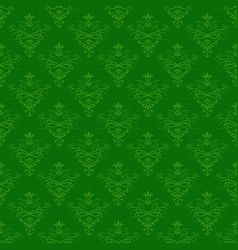 seamless green floral pattern for background vector image