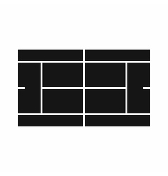 Tennis court icon in simple style vector image