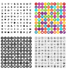 100 interface icons set variant vector