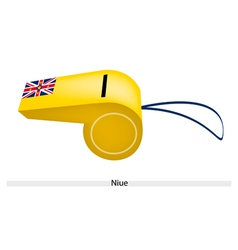 A Beautiful Yellow Whistle of Niue Flag vector