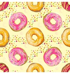 Abstract seamless pattern with colorful vector