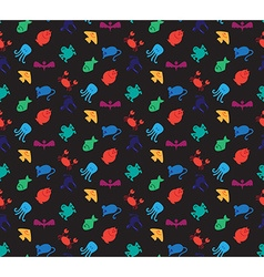 Animals icons seamless pattern vector