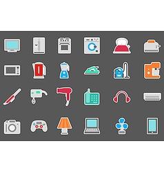 Appliances stickers set vector