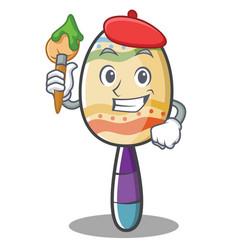 artist maracas character cartoon style vector image