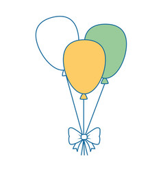 balloons air party decorative vector image