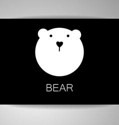 Bear animal template vector