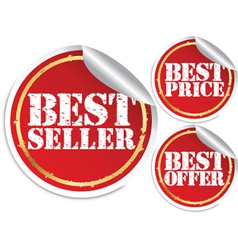 Best seller best price and best offer vector image