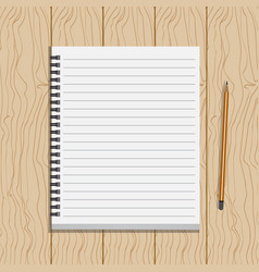 book on wood table vector image