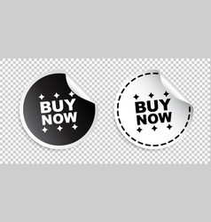 Buy now sticker black and white vector