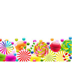 Candy border vector
