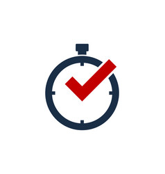 check time logo icon design vector image