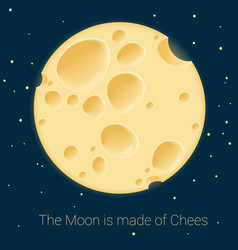 Cheese moon template vector