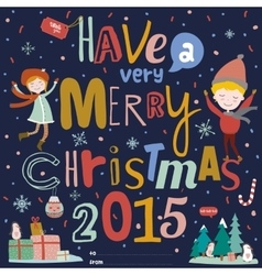 Christmas Calligraphic And Typographic Background vector