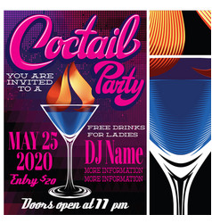 color for advertising cocktail party vector image