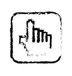 contour symbol hand icon vector image