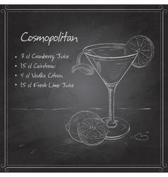 Cosmopolitan on black board vector